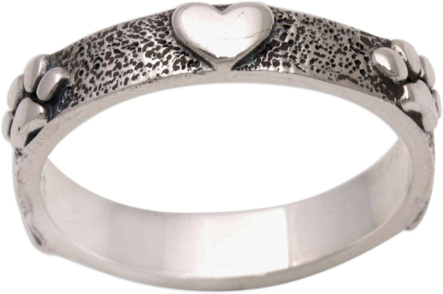NOVICA .925 Sterling Silver Fixed price for sale Band Ring for OFFer Paws Love'