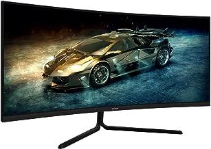 VIOTEK GNV34DB 34-Inch Ultrawide Gaming Monitor, Curved 1500R UWQHD VA Panel | 100Hz 1440p Monitor Resolution | FreeSync FPS/RTS | 3 HDMI Ports DP 3.5mm Aux (VESA)