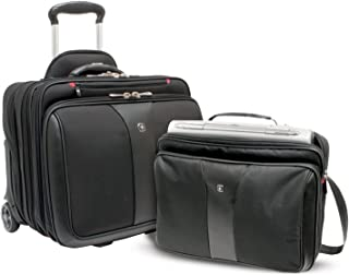 Wenger Patriot 2 Piece Business Set with Removable Laptop Slimcase, Black, 600662