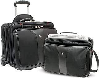 Wenger Patriot 2 Piece Business Set with Removable Laptop Slimcase, Black, 600662