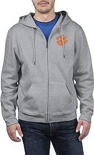 Top of the World NCAA Mens Zip Up Hoodie Sweatshirt Gray Applique Icon