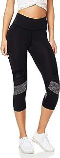 Marca Amazon - AURIQUE Leggings deportivos capri con paneles para mujer