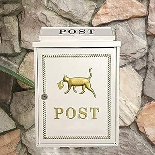 AOLI Mailbox Wall-Mounted Mailbox, Community Letter Box, Mailbox, Mailbox, Villa Mailbox Mailbox,White