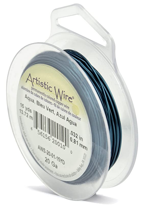 Beadalon Artistic Wire 20-Gauge Aqua Wire, 15-Yards