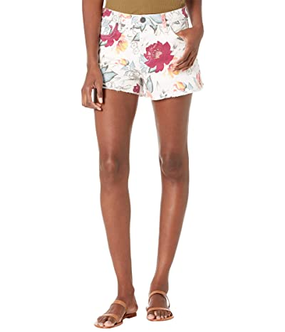 KUT from the Kloth Jane High-Rise Shorts in Ivory/Berry Women