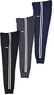 Hind Boys 3-Pack Fleece and Tricot Jogger Sweatpants with Pockets for Athletic & Casual Wear