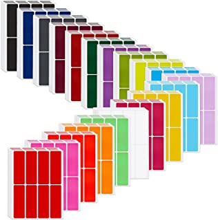 640 Pieces Rectangular Color Coding Label Stickers 3 x 1 inch Color-Code Labels Adhesive Colored Rectangle Label Self-Adhe...
