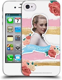 Official Riverdale Betty Cooper Graphics Soft Gel Case Compatible for iPhone 4 / iPhone 4S