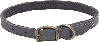 Circle T Rustic Leather Town Dog Collar, 3/8