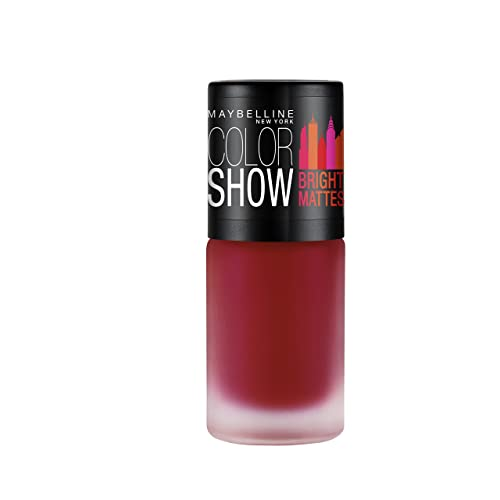 Maybelline New York Colour Show Bright Matte Nail Paint, Brilliant Red, 6ml