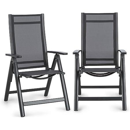 Sedia A Sdraio Campeggio Set Di 2 Sedie Pieghevoli Da Giardino Maxxgarden Nero Pieghevole In Alluminio E Plastica Lettini Quickandcleaninc Arredamento