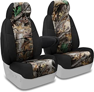 Coverking Front 50/50 Bucket Custom Fit Seat Cover for Select Chevrolet Models - Neosupreme (Realtree Advantage Timber Camo with Black Sides)
