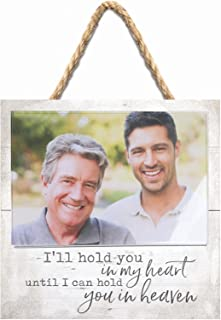 P. Graham Dunn Hold You in Heart Heaven White 7 x 7 Inch Pine Wood Wall Hanging Photo Frame