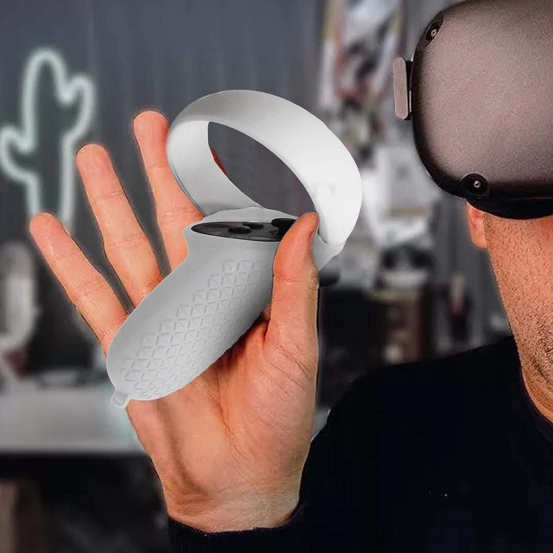 VR Glass Protective Set Oculus Quest 2 Protection Kit Accesorios 5m Cable de Datos Auriculares Cubierta c/ómoda Ojo Lente Capucha Asa Correa de mu/ñeca para Controlador Dise/ño de prevenci/ón de ca/ídas