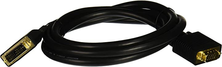 Monoprice 105910 6-Feet 28AWG DVI-A to SVGA Video Cable - Black