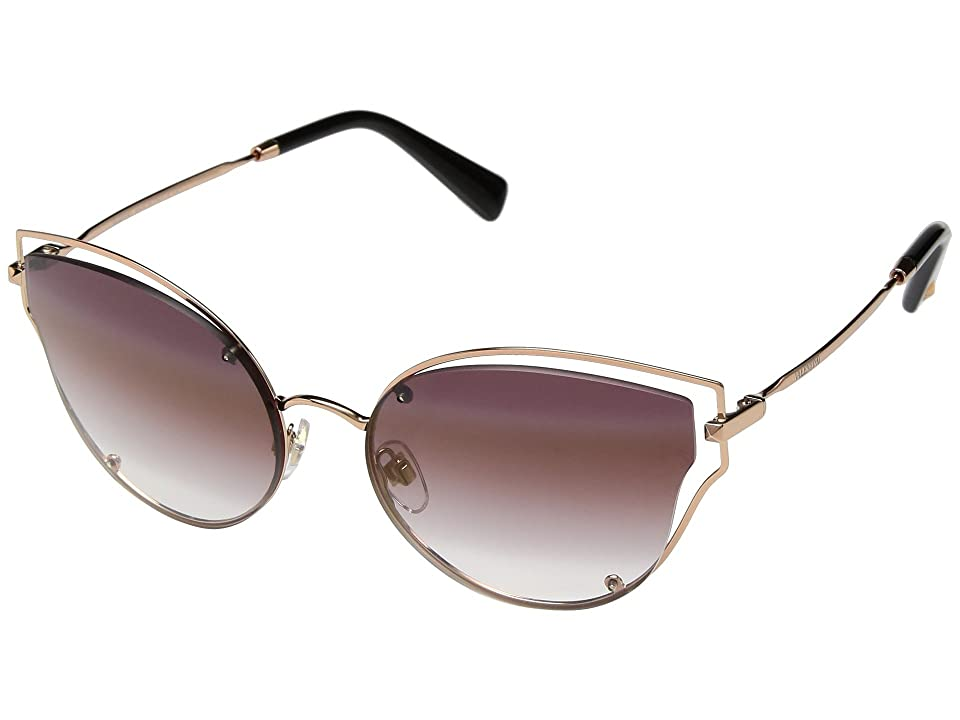 Valentino VA 2015 (Rose Gold/Rose Gradient Mirror/Light Gold) Fashion Sunglasses