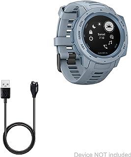 BoxWave Corporation Garmin Instinct Cable, [DirectCharge Cable] For Garmin Instinct - Jet Black