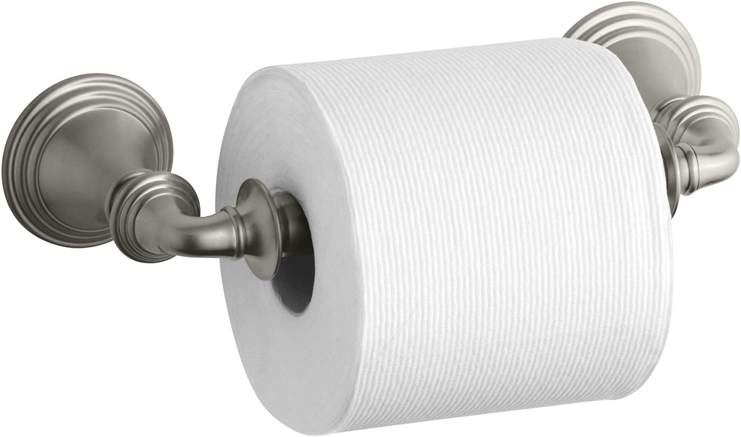 KOHLER K-10554-BN Devonshire Toilet Tissue Holder, Vibrant Brushed Nickel