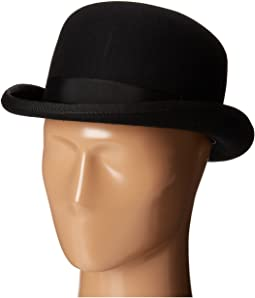 SCALA - Wool Felt Bowler w/ Grosgrain Band