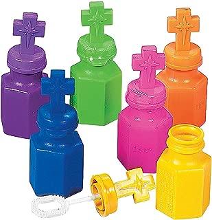 Fun Express - Cross Bubble Bottles - Toys - Bubbles - Character Bubble Bottles - 12 Pieces