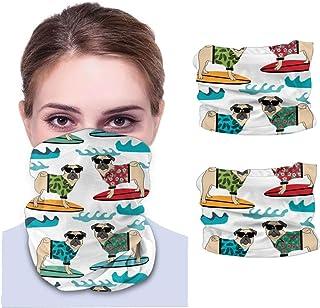 Nother Mops surfande hundras vit unisex mikrofiber mode andas bandanas huvudbonad armband