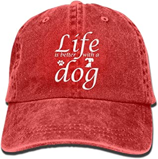 Baseball Jeans Cap Life is Better with A Dog 2-1 Men Snapback Casquettes Adjustable Baseball Hat