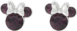 Disney Minnie Mouse Birthstone Jewelry, Silver Plated...