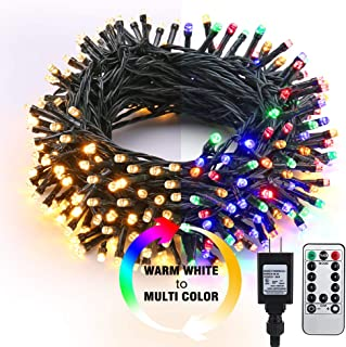 Brizled LED String Lights, 65.67ft 200 LED 9-Function Color Changing Warm White Multi Color Fairy Lights, Dimmable 24V Safe Adapter Decorative Lights with Timer & Remote for Bedroom Wedding Xmas Decor