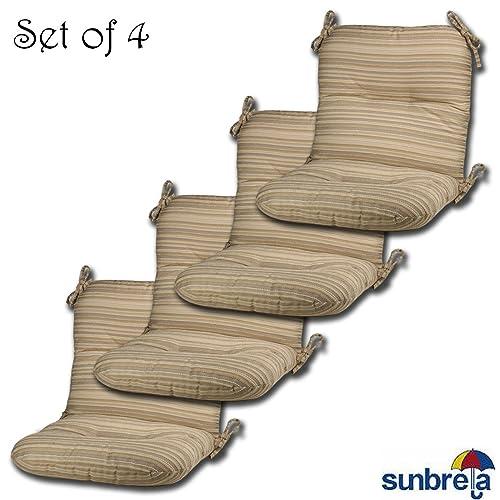Patio Chairs with Sunbrella Fabric: Amazon com