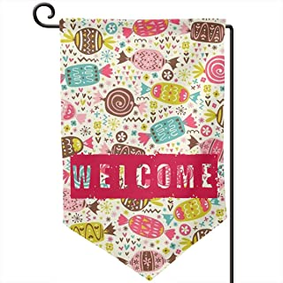 185zoejiaqi Sweet Candys Lollipop Seasonal House Garden Flag DIY Welcome Banner Holiday Outside Yard Mailbox Flags Colors Decoration Gift-12.518