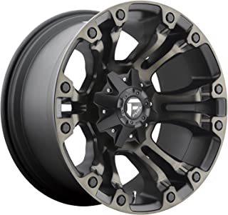 FUEL Vapor D569 Black & Machined with Dark Tint 17x9 5x4.5 5x5.0 Wheel Rim Partnumber D56917902650