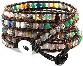 semiprecious stones/' bracelet Silk cord bracelet May birthstone bracelet multistrand bracelet braided silk bracelet Multilayer bracelet