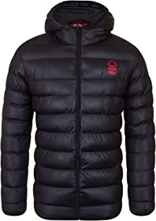 Nottingham Forest FC Official Soccer Gift Mens Quilted Hooded Winter Jacket