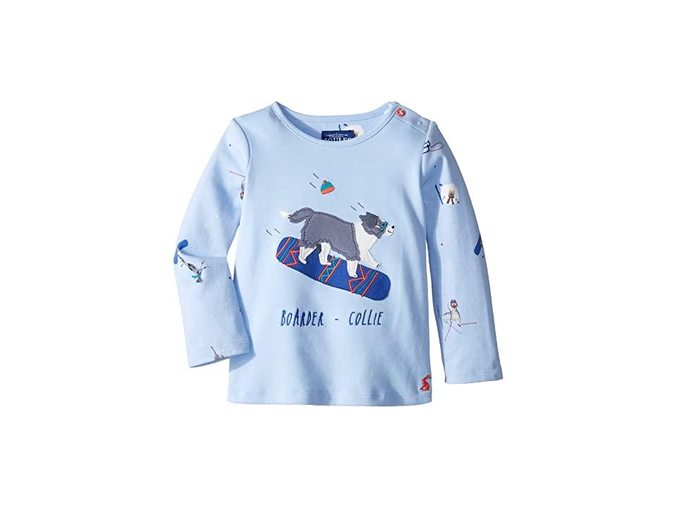 Joules Kids Applique Jersey Top (Infant) (Sky Blue Dog) Boy