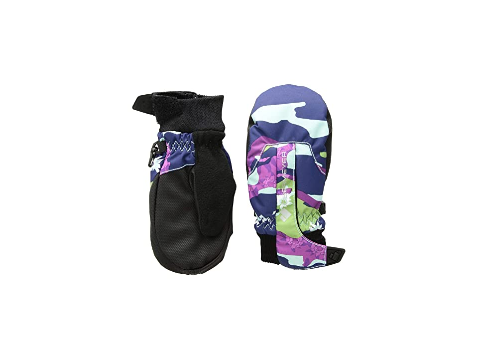 Obermeyer Kids Thumbs Up Mitten Print (Little Kids/Big Kids) (Camo/Purple) Extreme Cold Weather Gloves