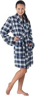Short Flannel Robe Womens - Women's Flannel Robes