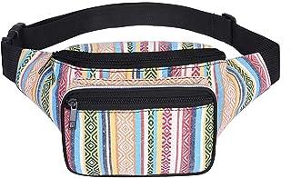 SANSARYA Boho Fanny Pack For Women Cute Festival Hippie Waist Bag Tribal  Aztec Bum Bag ( 98deb6b2699ee