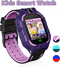 YENISEY Kid Smart Watches with Games,Waterproof Children Smartwatch Phone SOS Anti-Lost Voice Chat Camera Alarm Clock Quick Dial Flashlight for 3-4 Year Boys Girls Birthday Toys (Purple) …
