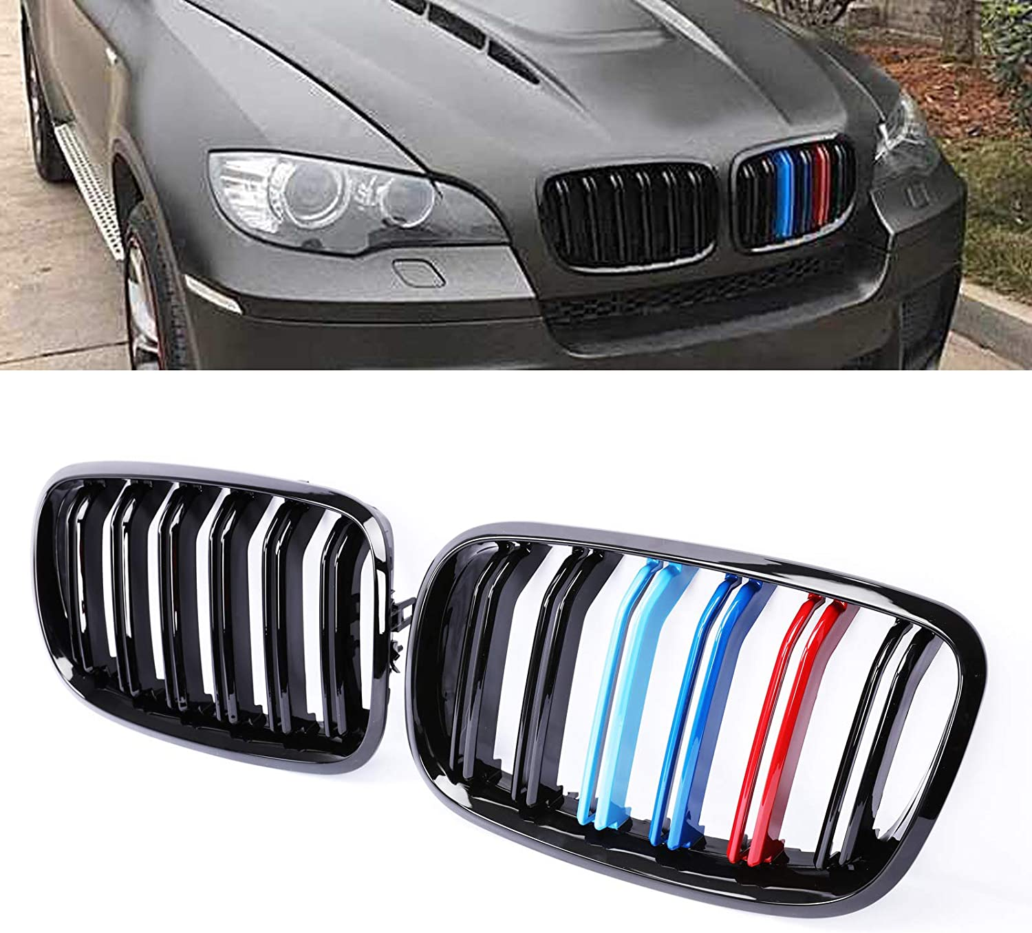 PENSUN Front Bumper Kidney Grilles Latest item Grille X6 E71 For Special price E70 BMW X5