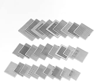 BGA Stencils,27Pcs Universal Directly Heat BGA Reballing Net Sencils Templates for Soldering Accessories