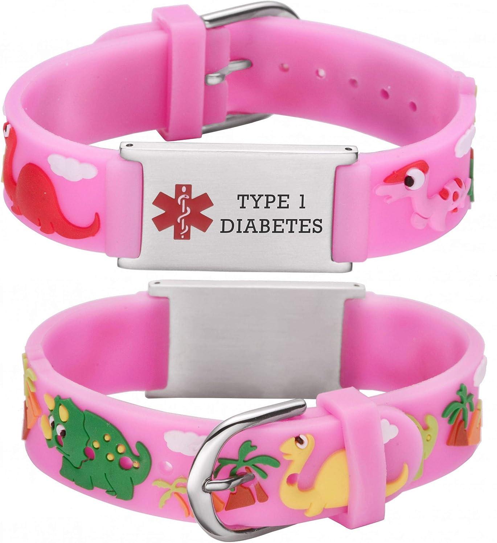 LinnaLove Cartoon Medical Alert id Phoenix Mall Gift to Bracelets Son Recommended Parents
