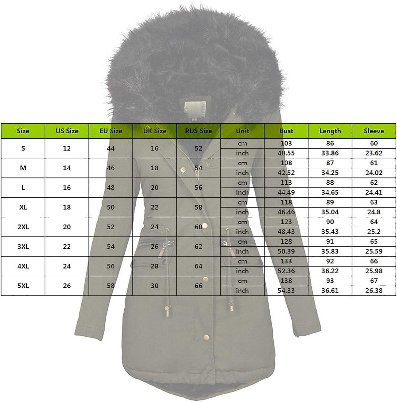 Puimentiua Frauen Mäntel Lässig Kapuzenmantel Winter Jacke Mode Warme Kunstpelz Bomberjacke Elegante Mittellange Fleece Chic Grün