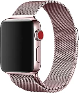eWINNER Stainless Steel Replacement Watch Band Milanese Loop Strong power magnetic buckle compatible with Apple watch seri...