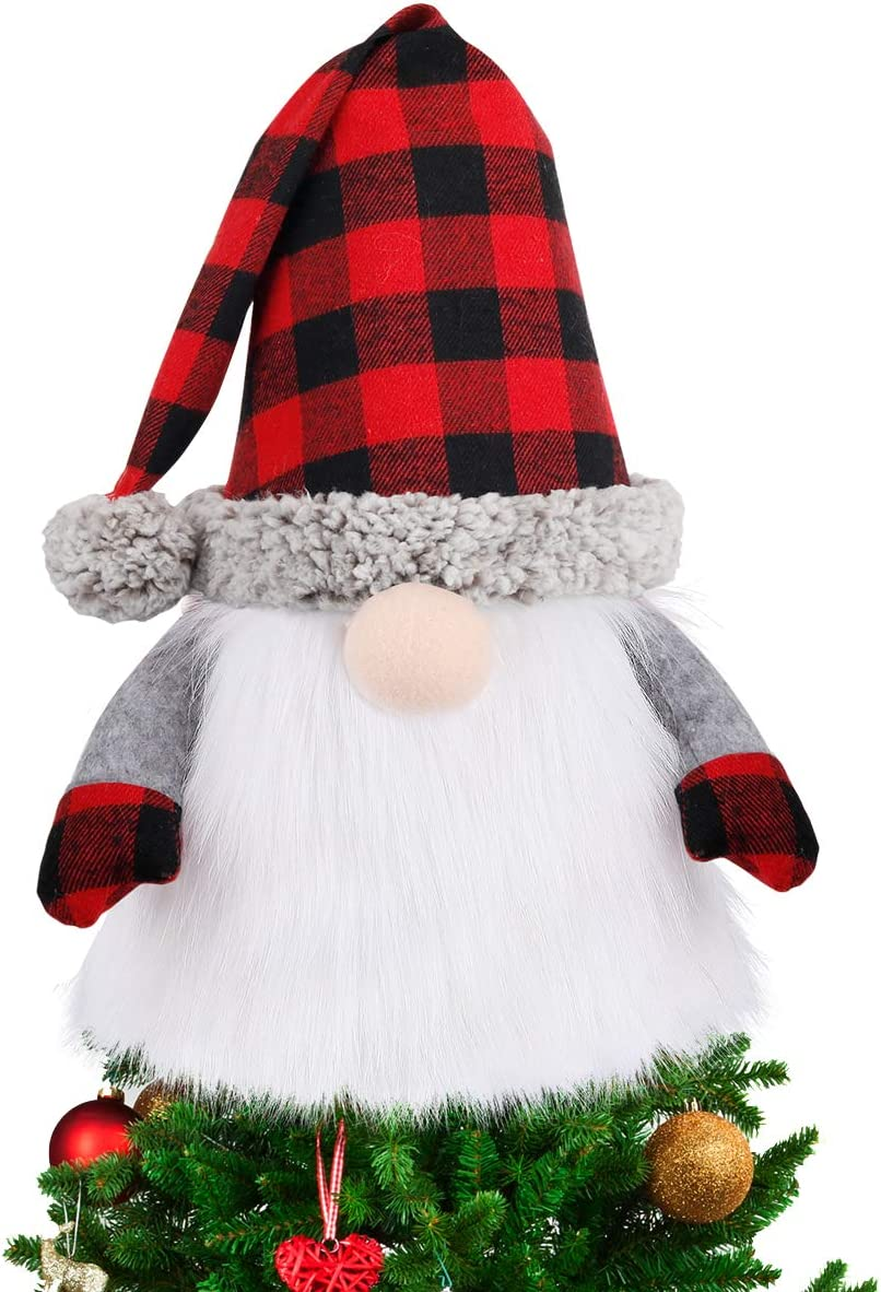Cash special price D-FantiX Gnome Christmas Fort Worth Mall Tree Topper Large 27.5 Swedish Inch To