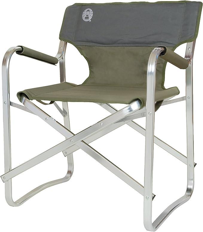 Coleman Deck Silla de Camping, Color Verde, Unisex Adulto