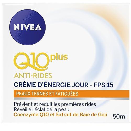 Nivea Q10+ Anti-Rides Crème d'Energie Jour Peaux Ternes et Fatiguées 50ml
