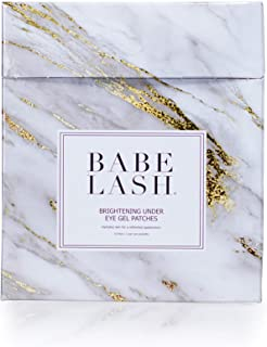 Babe Lash Brightening Under Eye Gel Patches (10 Pack) for Fine Lines, Puffiness & Dark Circles - Moisturizing Eye Gel Patches Kit - Eye Pads for Under Eye Treatment with Niacinamide for Puffy Eyes, Wr