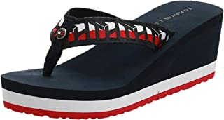 Tommy Hilfiger TH WEBBING WEDGE BEACH SANDAL womens Fashion Sandals