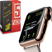 High Performance Sport iWatch [Full Cover] Screen Protector Film for Apple Watch Screen Protector 38MM 42MM 40MM 44MM, Sof...