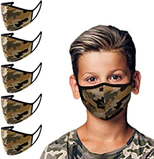 5 Pack Made in USA Kids/Youth 3D Face Mask – Protective, Reusable, Comfortable and Breathable Mouth and Nose Cover
